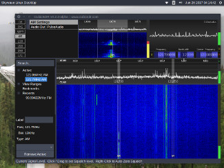 Receiving multiple aviation voice signals at once useng CubicSDR and an RTL-SDR dongle